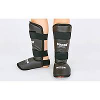 Защита для голени и стопы кожвинил BOXER (черный)