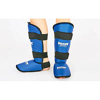 Защита для голени и стопы кожвинил BOXER (синий)
