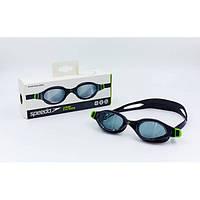 Очки для плавания детские SPEEDO FUTURA PLUS JUNIOR (черный-зеленый)