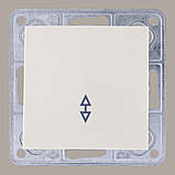 Выключатель проходной белый, фото 2