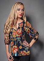 Летняя женская блуза с открытой спиной