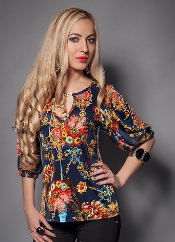 Летняя женская блуза с открытой спиной, фото 2