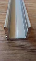 Алюминиевый профиль для светодиодных лент накладной ЛП12, фото 1