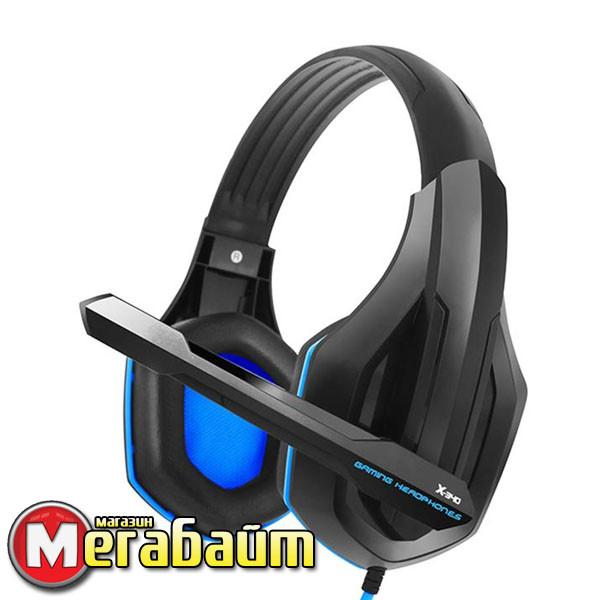 Гарнитура Gemix X-340 Black/Blue (04300096)