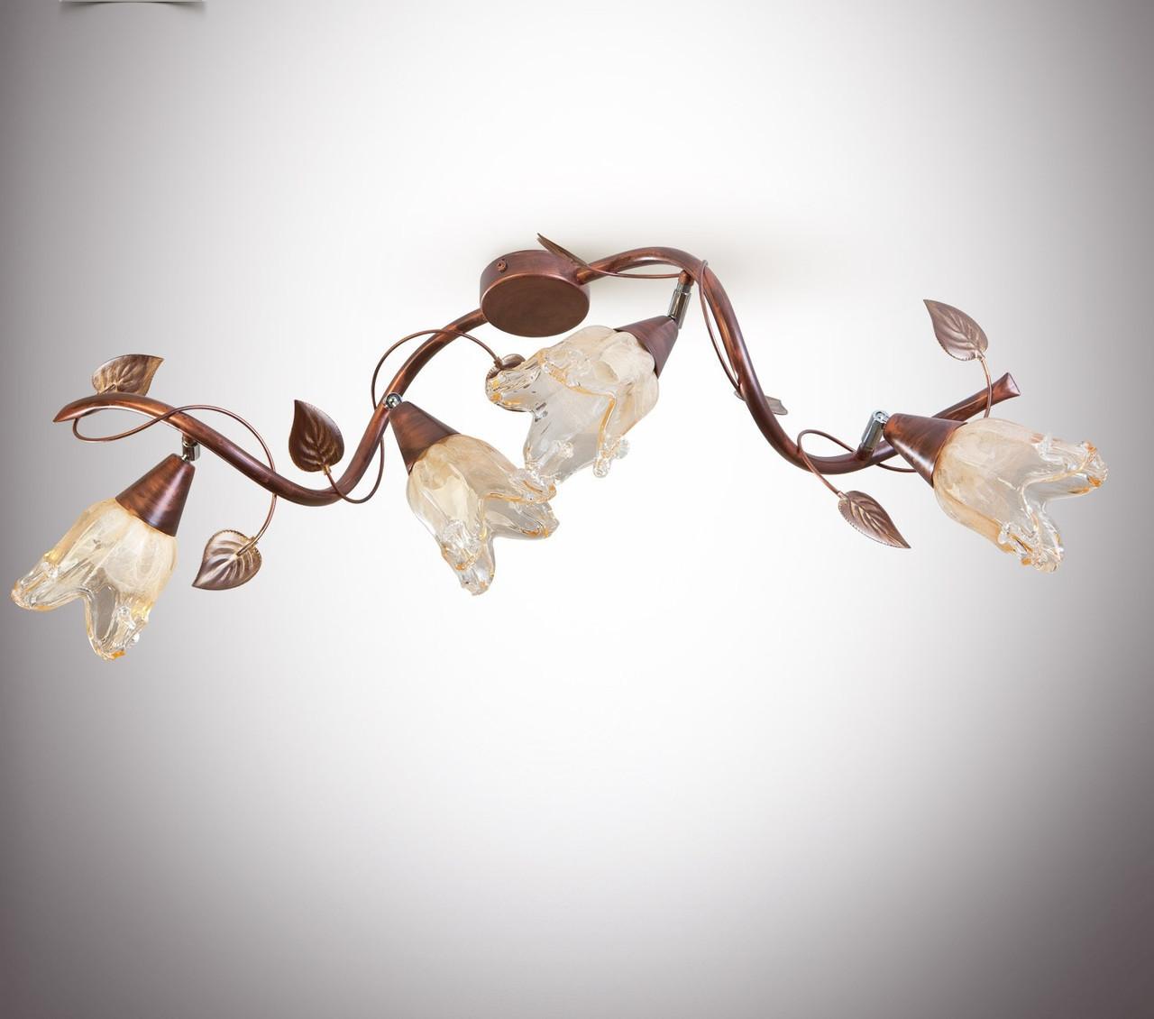 Люстра для спальни, для прихожей,гостиной на 4 лампочки 1004