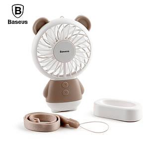 Портативный ручной вентилятор Baseus Dharma bear Fan с встроенным аккумулятором
