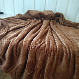 Плед из микрофибры Размер 2.00 на 2.30 Зигзак Коричневый, фото 4
