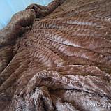 Плед из микрофибры Размер 2.00 на 2.30 Зигзак Коричневый, фото 3