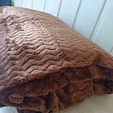 Плед из микрофибры Размер 2.00 на 2.30 Зигзак Коричневый, фото 2