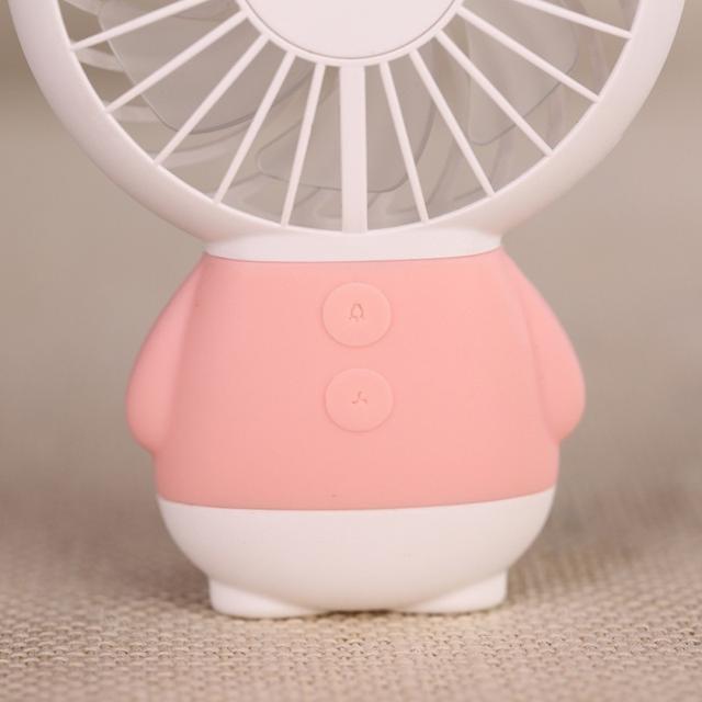 Портативный ручной вентилятор Baseus Dharma bear Fan с встроенным аккумулятором розовый коричневый
