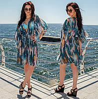 0c86b92a02361 Женская короткая пляжная туника до больших размеров 173