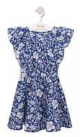 Платье летнее для девочки Бемби Украина сине-белое ПЛ239