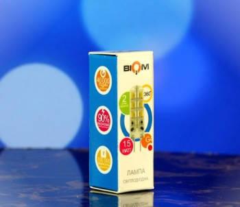 Светодиодная лампа Biom G4 1.5W 2800К 220V в силиконе Код.58380, фото 2