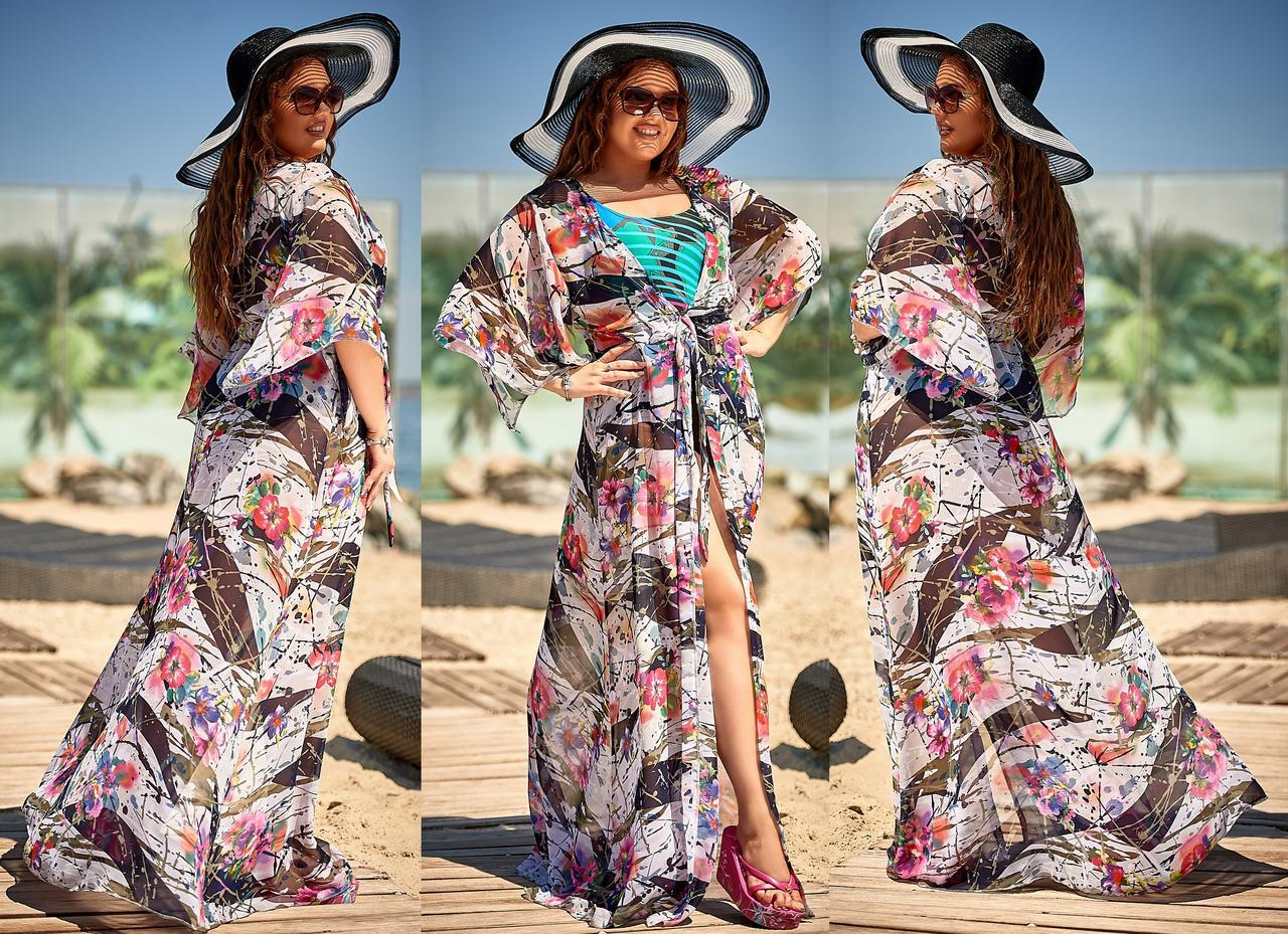 e3d899724f158 Женская длинная пляжная туника до больших размеров 162