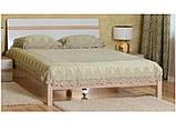 Кровать двуспальная Магнолия с ламелями КТ-713 (БМФ) 1700х2200х1000мм , фото 2