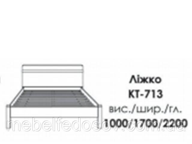Кровать КТ-713 магнолия БМФ