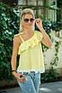 Желтая Блузка на одно плечо, фото 2