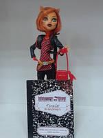 Кукла Monster High Торалей Страйп Базовая - Toralei Stripe Basic + подставка б/у