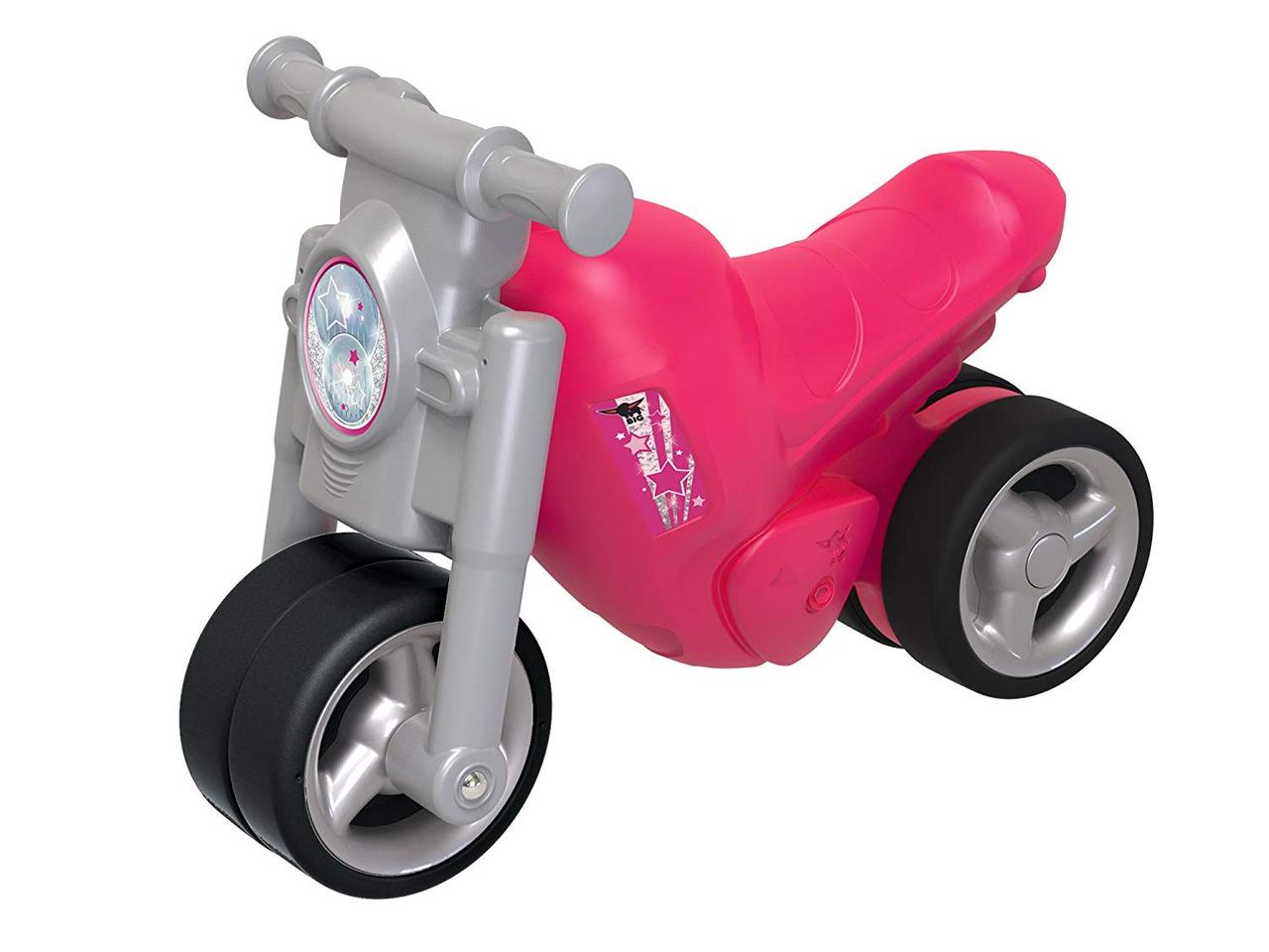 Детский мотоцикл беговел толокар Big велобег Девичий стиль и защитные накладки 56362