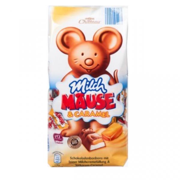 Шоколадные конфеты Milch Mause c карамелью