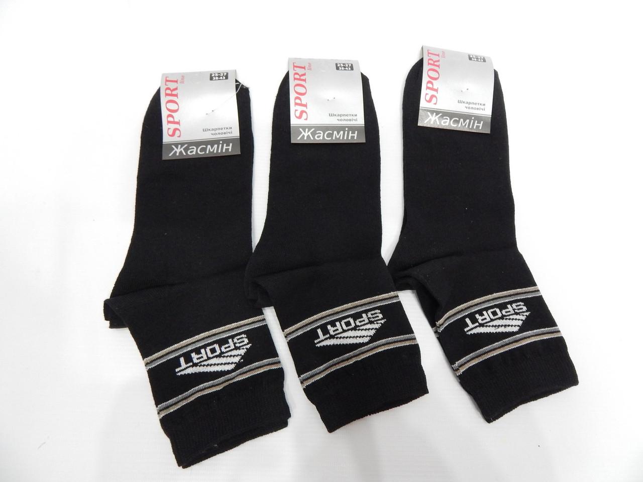 Чоловічі демісезонні шкарпетки Жасмін Sport р. 25-27(38-43) 041NM