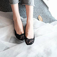 Кружевные тапочки носочки (Черный), фото 1