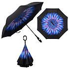 Вітрозахисний парасолька Up-Brella антизонт Парасолька зворотного складання, фото 5