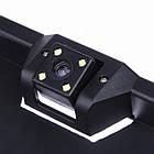 Камера заднього виду рамка A58 silver | в рамці номерного знака, фото 4
