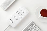 Сетевой фильтр Xiaomi Mi Power Strip (6 розеток + 3 USB-port) White, фото 5