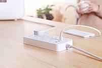 Сетевой фильтр Xiaomi Mi Power Strip (6 розеток + 3 USB-port) White, фото 9