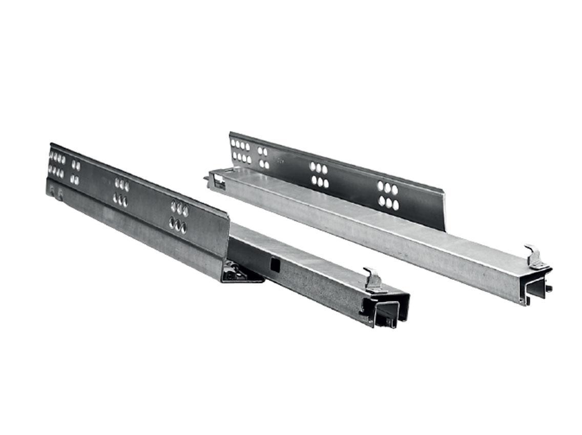 Меблева направляюча прихованого монтажу повного висування з доводчиком  LINKEN SYSTEM Н=45 для дсп 16мм