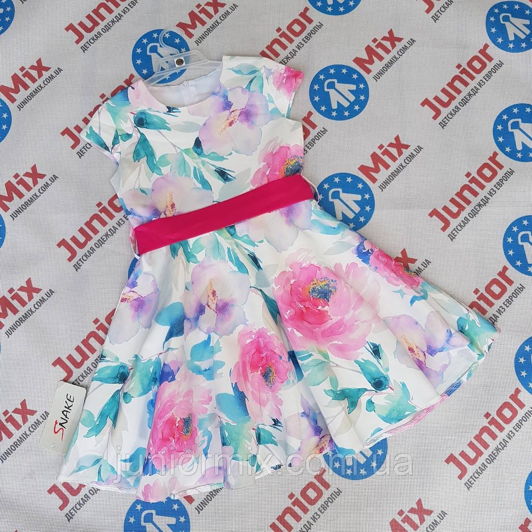 Детское нарядное платье на девочку  в цветы  SNEKE
