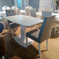 Стол Милан-1 (В 2396-1 White+W023)  Exm, цвет столешницы и ножек белый, фото 3