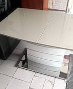 Стол обеденный раскладной   Houston  Mokko Gloss (Хьюстон) DT-9123-1  Evrodim, цвет мокко