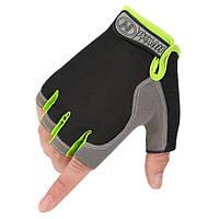Перчатки велосипедные Huwai  без пальцев Green