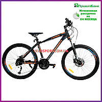 Горный велосипед Crosser Cross 26 дюймов черно-оранжевый