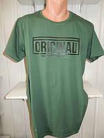 Футболка мужская VIA MONTE ORIGINAL батал, стрейч котон  002\ купить футболку мужскую оптом