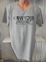 Футболка мужская VIA MONTE WOW YORK батал, стрейч котон  002\ купить футболку мужскую оптом