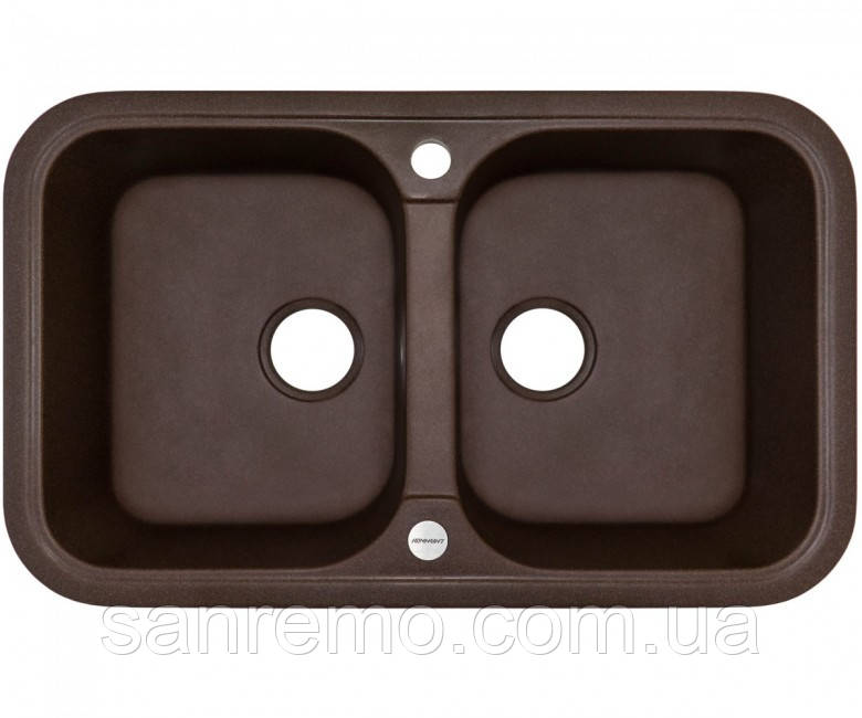 Двухчашевая мойка кухонная ГРАНИТ (770х470х190 мм) Adamant TWINS