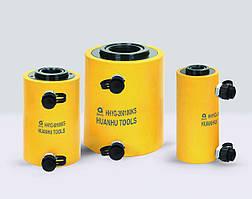 Гидравлический домкрат цилиндр с полым штоком двойного действия HHYG-KS 200 тн., 50 мм.
