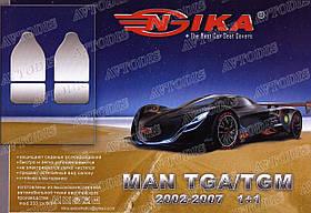 Авточехлы MAN TGA 1+1 2000- (тёмно-серые) VIP ЛЮКС Nika
