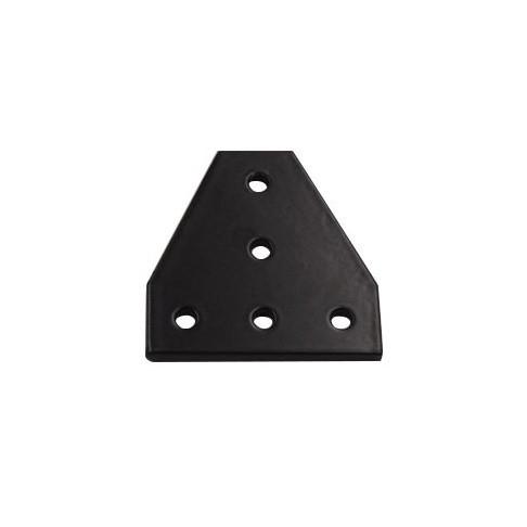 Пластина з'єднувальна Т-образна для профілю 20х20, чорна (угловой соединитель)