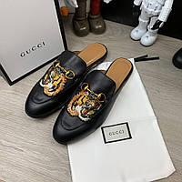 Тапочки мужские Gucci 19518 черные