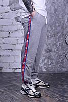 Штаны мужские Champion 19530 серые с лампасами