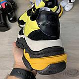 Кроссовки женские Balenciaga Triple S 2.0 19547 Black Yellow, фото 5