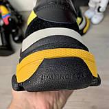 Кроссовки женские Balenciaga Triple S 2.0 19547 Black Yellow, фото 7