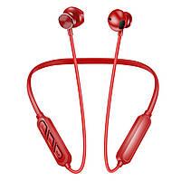 Наушники беспроводные Bluetooth с микрофоном Alitek H18 Neck Band Sport Stereo Red, фото 1