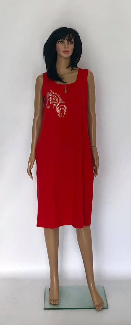 Женское летнее платье-сарафан из трикотажного натурального хлопка