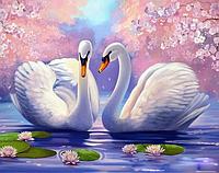 Картина по номерам «Два лебедя» (40*30 см) , фото 1