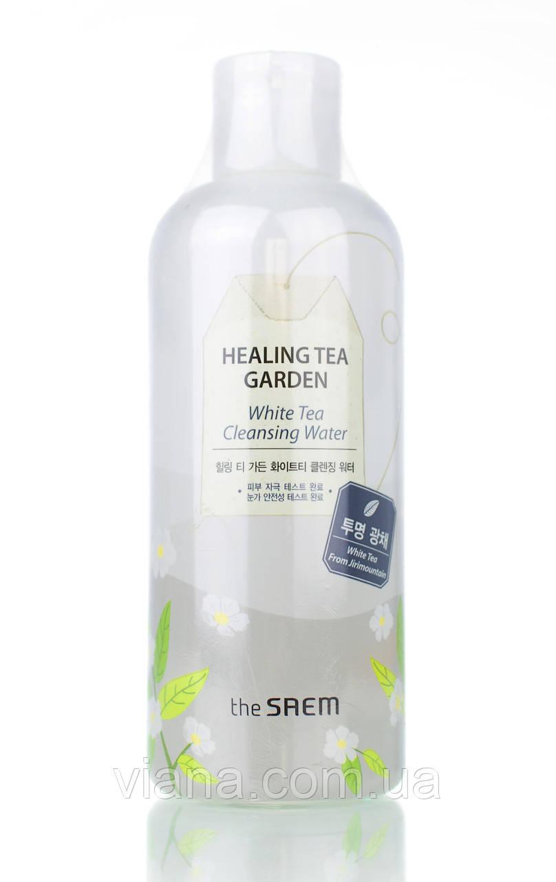 Вода очищающая увлажняющая с экстрактом белого чая THE SAEM Healing Tea Garden White Tea Cleansing Water